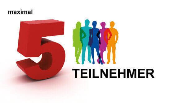 Maximal 5 Teilnehmer in allen Seminaren